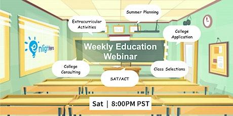 Weekly Education Webinar tickets