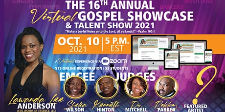 """Words of Essence's  """"16th Annual Gospel Showcase  Event 2021"""" (VIRTUAL) tickets"""