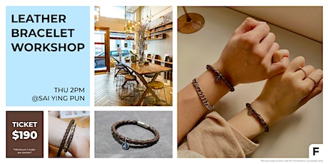 Leather Bracelet Workshop 皮革手帶工作坊 tickets