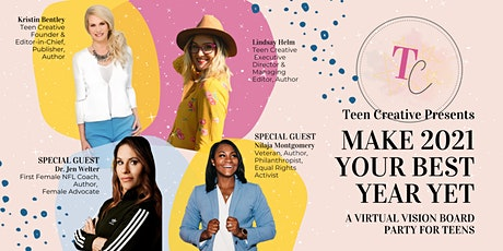 MAKE 2021 YOUR BEST YEAR YET: Virtual Vision Board Party for Teens tickets