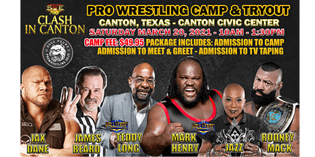 """SWE FURY """"CLASH IN CANTON"""" PRO WRESTLING CAMP & TRYOUT tickets"""