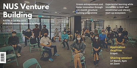 Venture Building (VB) Run 3 - Sharing Session tickets