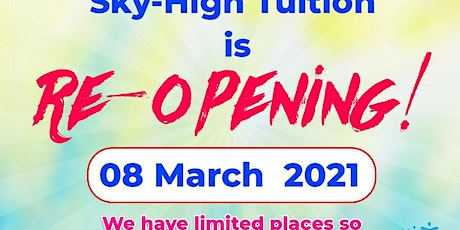 Sky-High Tuition is re-opening on 08 March 2021. tickets