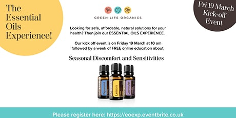 Essential Oils for Seasonal Discomfort and Sensitivities tickets
