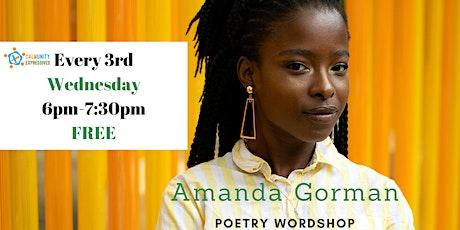 Who is Amanda Gorman? Poetry Wordshop tickets