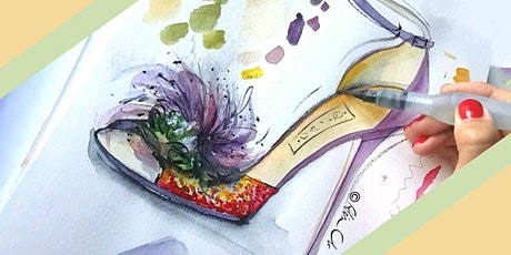 Illustrate fashion: stylish high heel shoes in watercolours! tickets