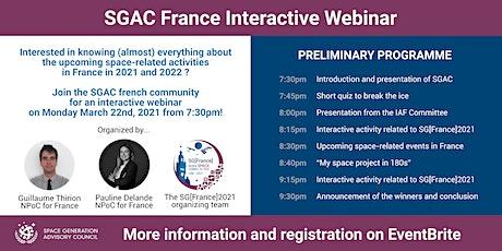 SGAC France Interactive Webinar tickets