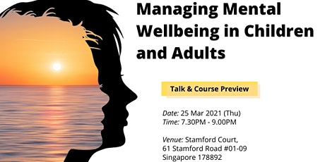 Talk + Preview: Managing Mental Wellbeing in Children and Adults tickets