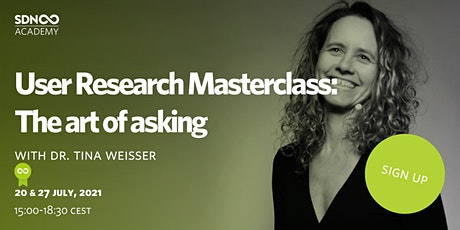User Research Masterclass - The art of asking tickets