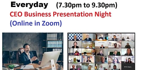 CEO Networking & Startup Entrepreneur Pitching (Online in Zoom() tickets