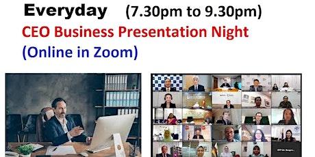 Startup and Entrepreneur Presentation - Online tickets