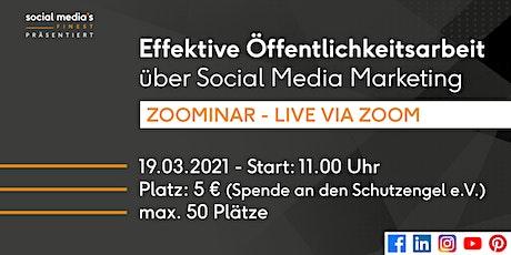 Effektive Öffentlichkeitsarbeit über Social Media Marketing Tickets