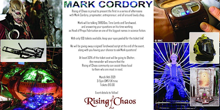 An Afternoon with Mark Cordory - TARDISes, Time Lords, and Torchwood image