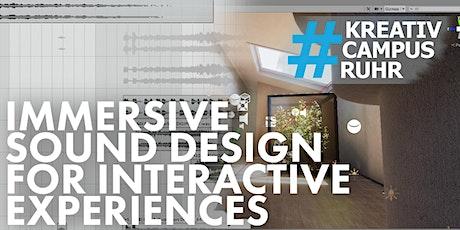 Kreativcampus.Ruhr Workshop: Immersive Sound Design for Virtual Experiences tickets