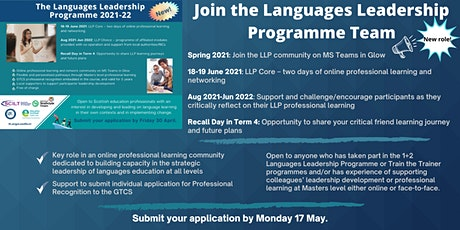 Join the Languages Leadership Programme Team! tickets