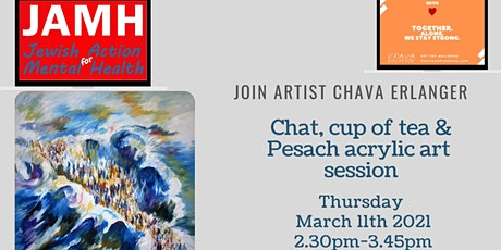 Pesach acrylic, Cuppa Tea and Chat with artist Chava tickets