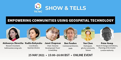 Empowering communities using geospatial technology tickets