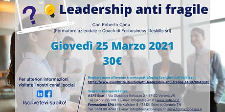 Leadership anti fragile biglietti