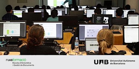 Sessió informativa online: Màster  en Arxivística i Gestió de Documents UAB entradas