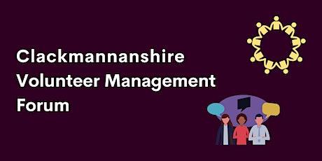 Clackmannanshire Volunteer Management Forum - October 2021 tickets