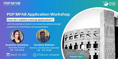 ISB (PGP MFAB) Application Support Workshop tickets