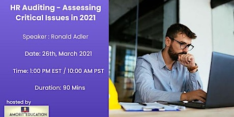 HR Auditing - Tackling Critical Issues in 2021 - All you need to know tickets