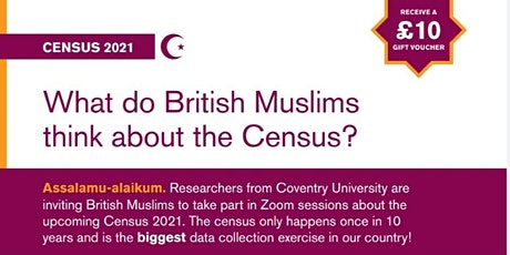 British Muslims and Census 2021 - Your Views tickets