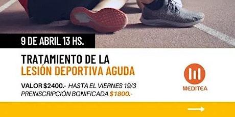 Tratamiento de la Lesión Deportiva Aguda. tickets