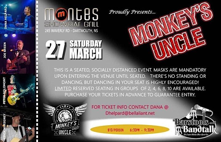 MONKEY'S UNCLE @ MONTES image