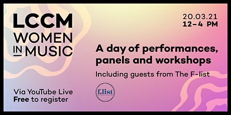 LCCM Women in Music - A Day of Performance, Panels & Workshops tickets