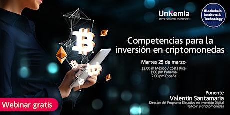 Webinar: Competencias para la inversión en criptomonedas entradas
