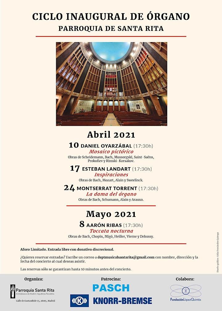Imagen de Concierto Esteban Landart en Santa Rita, Madrid. Inspiraciones