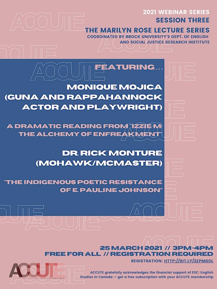 ACCUTE Pandemic Webinar #3: The Marilyn Rose Lecture Series image