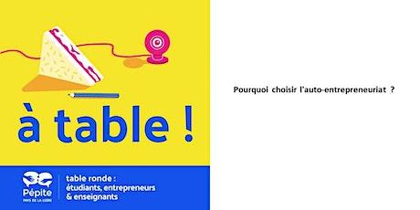 A table - Pourquoi choisir l'auto-entrepreneuriat ? billets