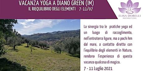 VACANZA YOGA a Diano Green (IM) - Il riequilibrio degli elementi biglietti