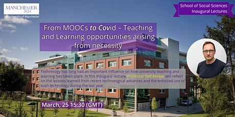 'MOOCs to Covid–Teaching and Learning opportunities arising from necessity' tickets