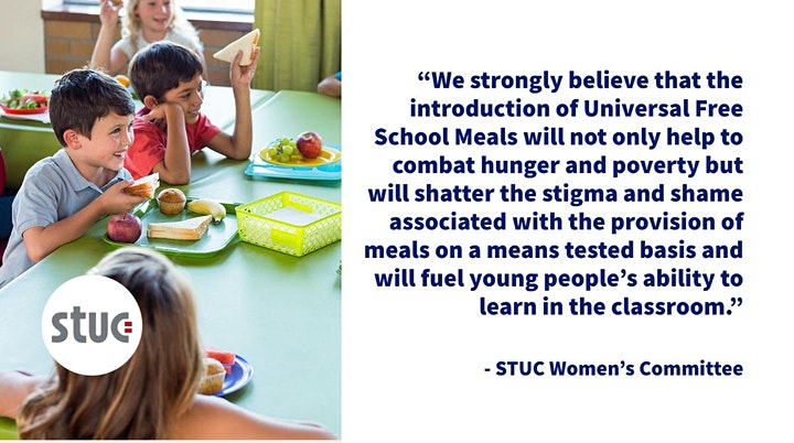 Free School Meals in Scotland Online Rally image