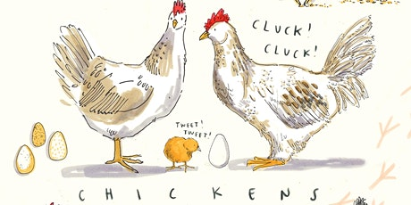 Chickens Drawing workshop with Becca Hall Illustration tickets