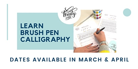 Beginners Brush Pen Calligraphy- online lessons! tickets