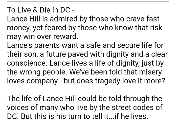 TO LIVE AND DIE IN WASHINGTON DC image