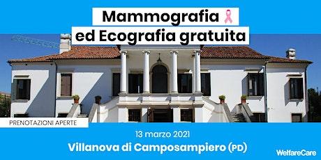 Mammografia ed Ecografia Gratuita - Villanova di CSP 13 Marzo 2021 tickets