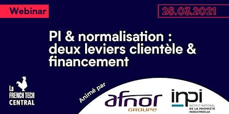 PI & normalisation : deux leviers clientèle & financement @INPI @AFNOR billets