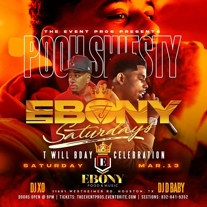 Ebony Saturdays Feat. Pooh Shiesty @ Ebony ! ( 10pm - 2am ) image