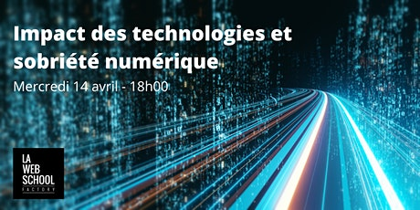 Session 3 - Impact des technologies et sobriété numérique billets