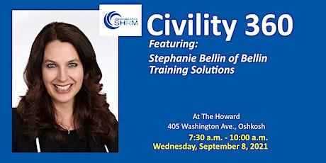 September 2021Oshkosh Area SHRM Chapter Meeting: Civility 360 tickets