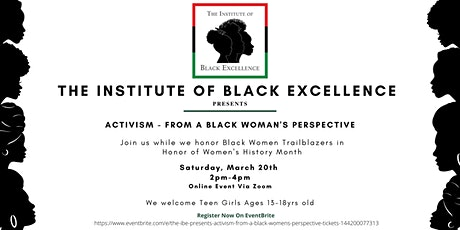 The IBE Presents Activism  from a Black Women's Perspective tickets