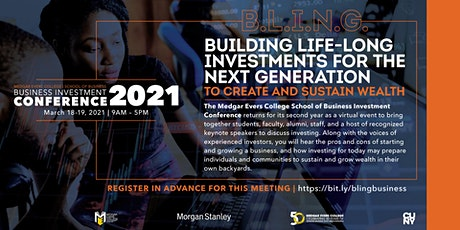 B.L.I.N.G. Building Life-Long Investments for the Next Generation Mar 18-19 tickets