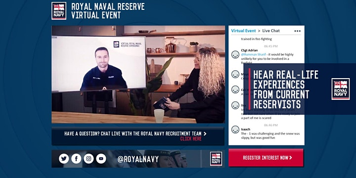 Virtual Royal Naval Reserve Experience - Edinburgh and Glasgow Units image