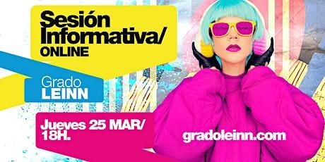 LEINN/ SESIÓN INFORMATIVA ONLINE MADRID [25 MAR | 18H00] entradas