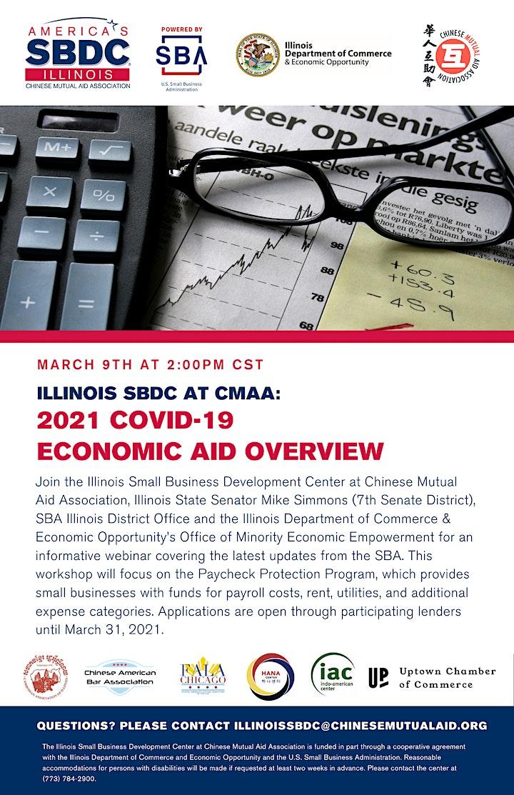 Illinois SBDC at CMAA: 2021 COVID-19 Economic Aid Overview image